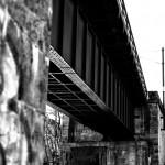 U-Bahn Brücke Winterhude — schwarzweiss –> farbig –
